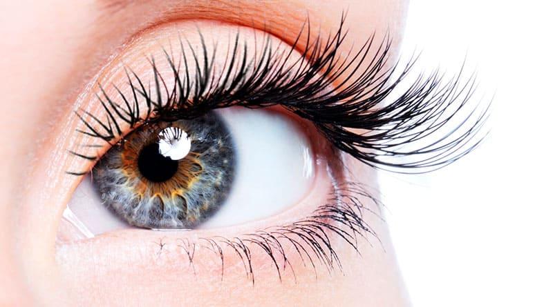 Naisen silmäripset