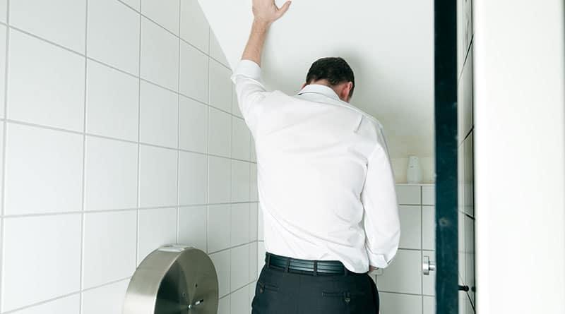Tihentynyt virtsaamistarve miehellä